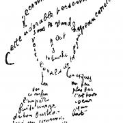 Apollinaire calligramme poeme du 9 fevrier 1915 reconnais toi