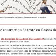 Contraction de texte