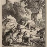 La fontaine les obseques de la lionne
